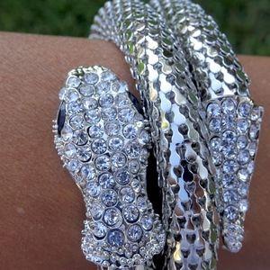 Brand New Silver Wrap Around Snake Bracelet
